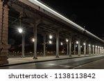 blurred train passing overhead...   Shutterstock . vector #1138113842