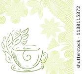green tea. vector illustration   Shutterstock .eps vector #1138115372