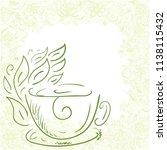 green tea. vector illustration   Shutterstock .eps vector #1138115432