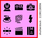 simple icon set of camera... | Shutterstock .eps vector #1138118006