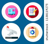 simple 4 icon set of note... | Shutterstock .eps vector #1138119275