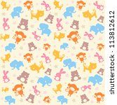 Child Seamless Pattern With...