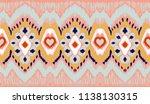 ikat geometric folklore... | Shutterstock .eps vector #1138130315