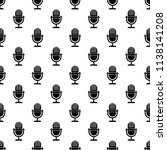 microphone icon in pattern...