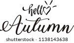 hand drawn of hello autumn | Shutterstock .eps vector #1138143638