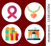 simple 4 icon set of gift...   Shutterstock .eps vector #1138145306