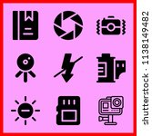 simple icon set of camera... | Shutterstock .eps vector #1138149482