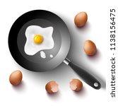 3d realistic breakfast  sunny... | Shutterstock .eps vector #1138156475