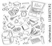 school clipart vector doodle...   Shutterstock .eps vector #1138157192