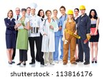 group of industrial workers.... | Shutterstock . vector #113816176