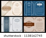 set of decorative frame in... | Shutterstock .eps vector #1138162745