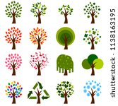 the pompom tree.this collection ... | Shutterstock .eps vector #1138163195