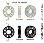 ball bearing without outline | Shutterstock .eps vector #1138165568