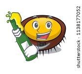 with beer sea urchin mascot... | Shutterstock .eps vector #1138177052