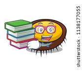 student with book sea urchin... | Shutterstock .eps vector #1138177055