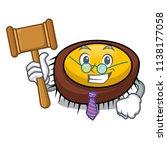 judge sea urchin mascot cartoon | Shutterstock .eps vector #1138177058