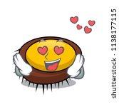 in love sea urchin mascot... | Shutterstock .eps vector #1138177115