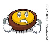 angry sea urchin mascot cartoon | Shutterstock .eps vector #1138177118