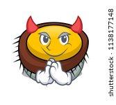devil sea urchin mascot cartoon | Shutterstock .eps vector #1138177148