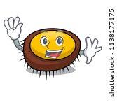 waving sea urchin character... | Shutterstock .eps vector #1138177175