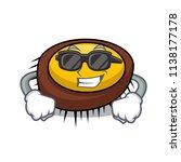 super cool sea urchin character ... | Shutterstock .eps vector #1138177178