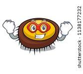 super hero sea urchin character ... | Shutterstock .eps vector #1138177232