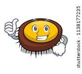 thumbs up sea urchin character... | Shutterstock .eps vector #1138177235