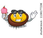 with ice cream sea urchin... | Shutterstock .eps vector #1138177238