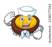 sailor sea urchin character... | Shutterstock .eps vector #1138177262