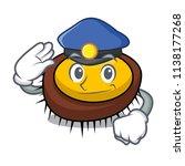 police sea urchin character... | Shutterstock .eps vector #1138177268