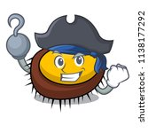 pirate sea urchin character... | Shutterstock .eps vector #1138177292