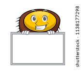 grinning with board sea urchin... | Shutterstock .eps vector #1138177298