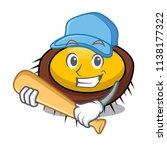playing baseball sea urchin... | Shutterstock .eps vector #1138177322