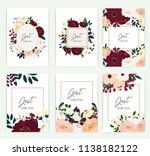 set of greeting card with... | Shutterstock .eps vector #1138182122