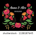 autumn wedding save the date... | Shutterstock .eps vector #1138187645