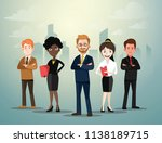 group of business people... | Shutterstock .eps vector #1138189715