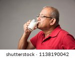 senior indian asian man with a... | Shutterstock . vector #1138190042