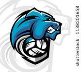 volleyball bulldog team logo   Shutterstock .eps vector #1138201658