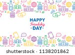 happy friendship day greeting... | Shutterstock .eps vector #1138201862