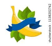 banana and ribbon banner. a...   Shutterstock .eps vector #1138202762