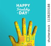 happy friendship day greeting... | Shutterstock .eps vector #1138203188