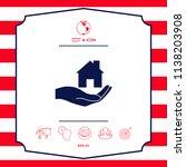 hand holding home   Shutterstock .eps vector #1138203908
