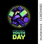 international youth day web... | Shutterstock .eps vector #1138204082