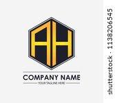 initial letters ah hexagon... | Shutterstock .eps vector #1138206545