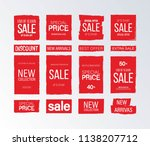 red sale banner. big collection.... | Shutterstock .eps vector #1138207712