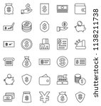 thin line vector icon set  ... | Shutterstock .eps vector #1138211738