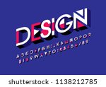 vector of modern bold font and... | Shutterstock .eps vector #1138212785