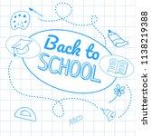 back to school inscription in... | Shutterstock .eps vector #1138219388