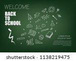 welcome back to school... | Shutterstock .eps vector #1138219475