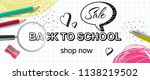 back to school  shop now... | Shutterstock .eps vector #1138219502